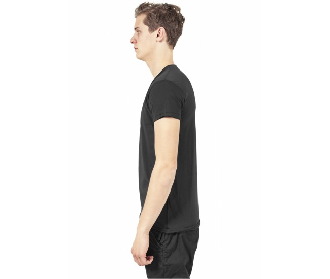Fitted Peached Open Edge V-Neck Tee