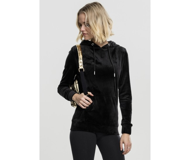 Ladies Velvet Hoody