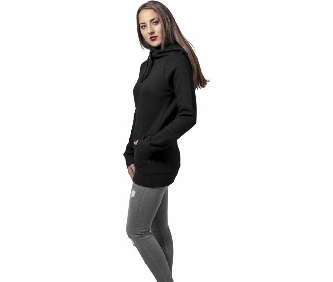 Ladies High Neck Raglan Hoody