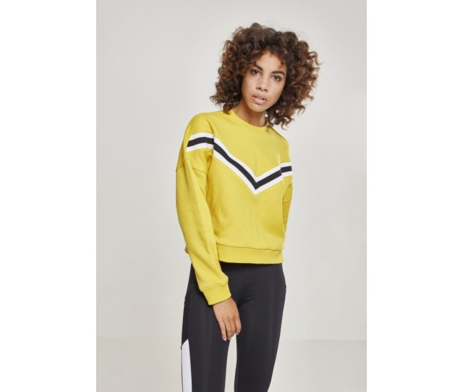 Ladies Inset Striped Crew