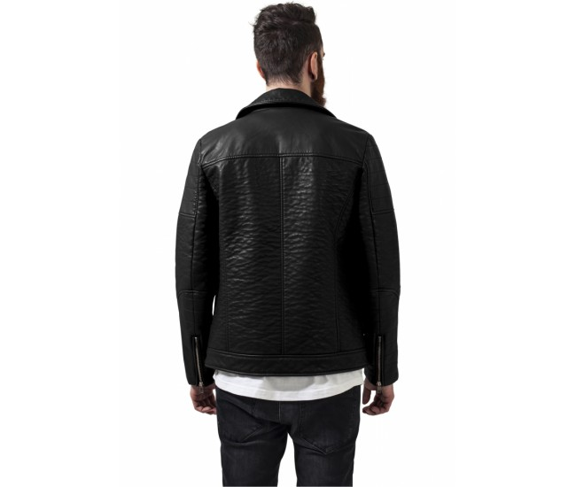 Leather Imitation Biker Jacket
