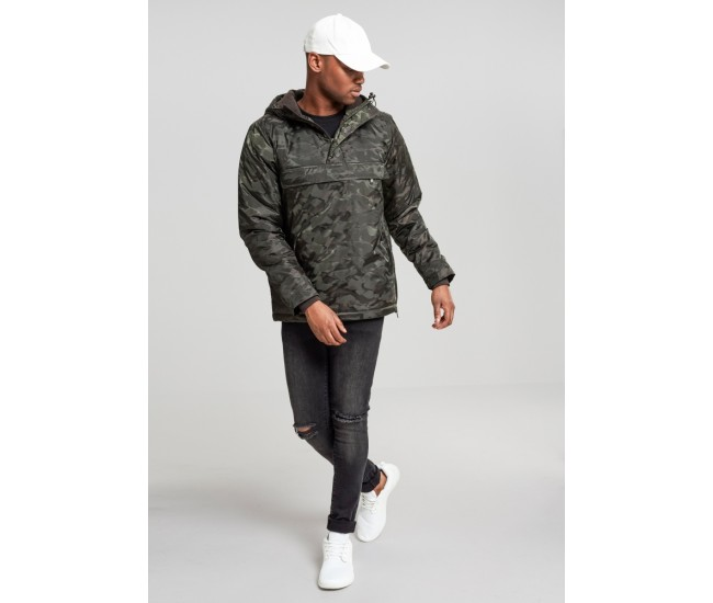 Padded Camo Pull Over Jacket