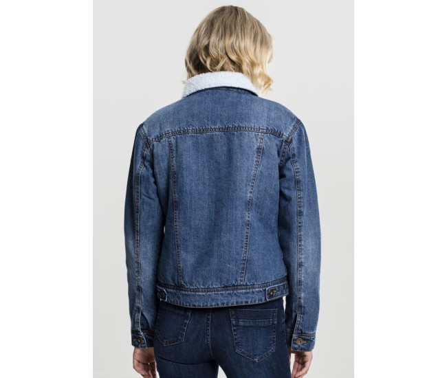 Ladies Sherpa Denim Jacket