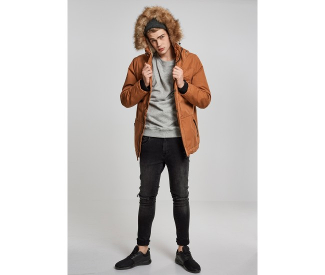 Heavy Cotton Imitation Fur Parka