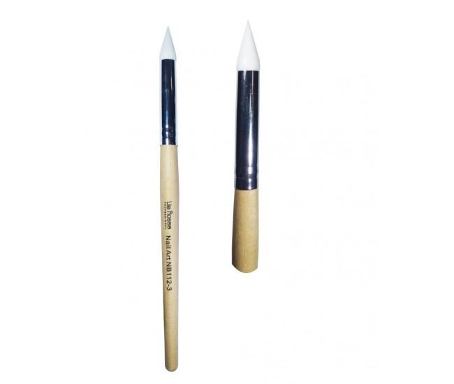 Pensula nail art cu varf din silicon nr3
