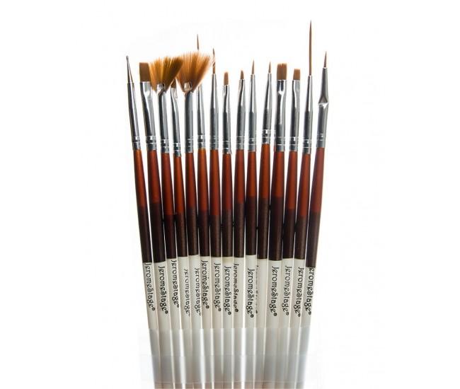 Pensule pentru unghii set 15 JS-LR