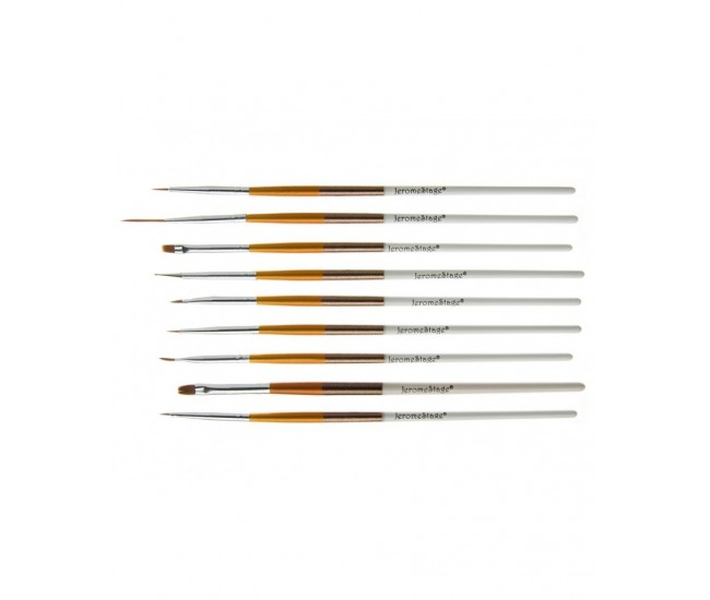 Pensule pentru unghii set 9 JS NBS09