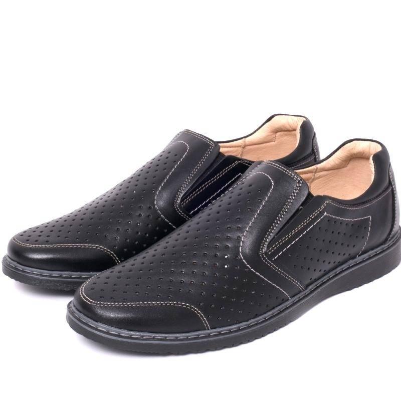 Pantofi perforati din piele Barbati VIC1520