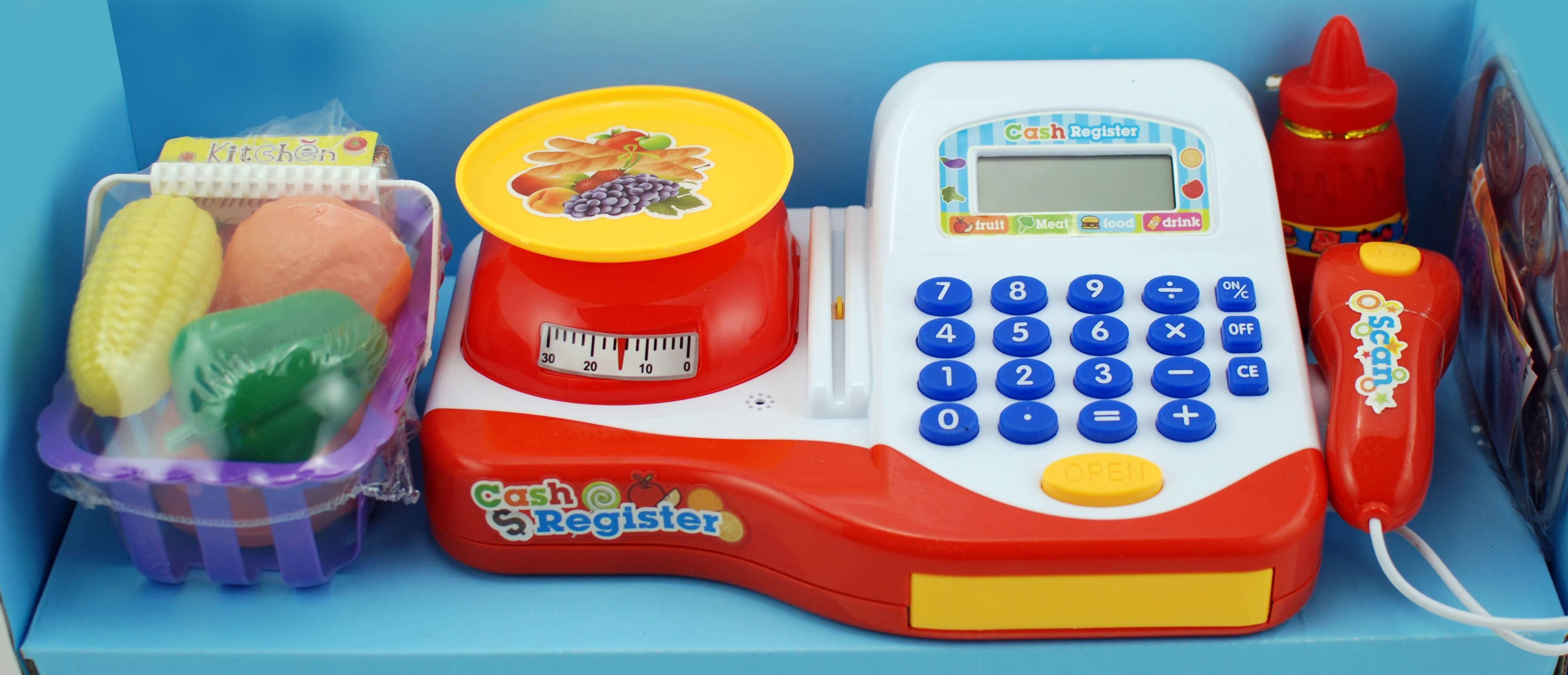 Casa de marcat de jucarie, cu scanner si multe accesorii - Cel mai frumos cadou pentru copii!