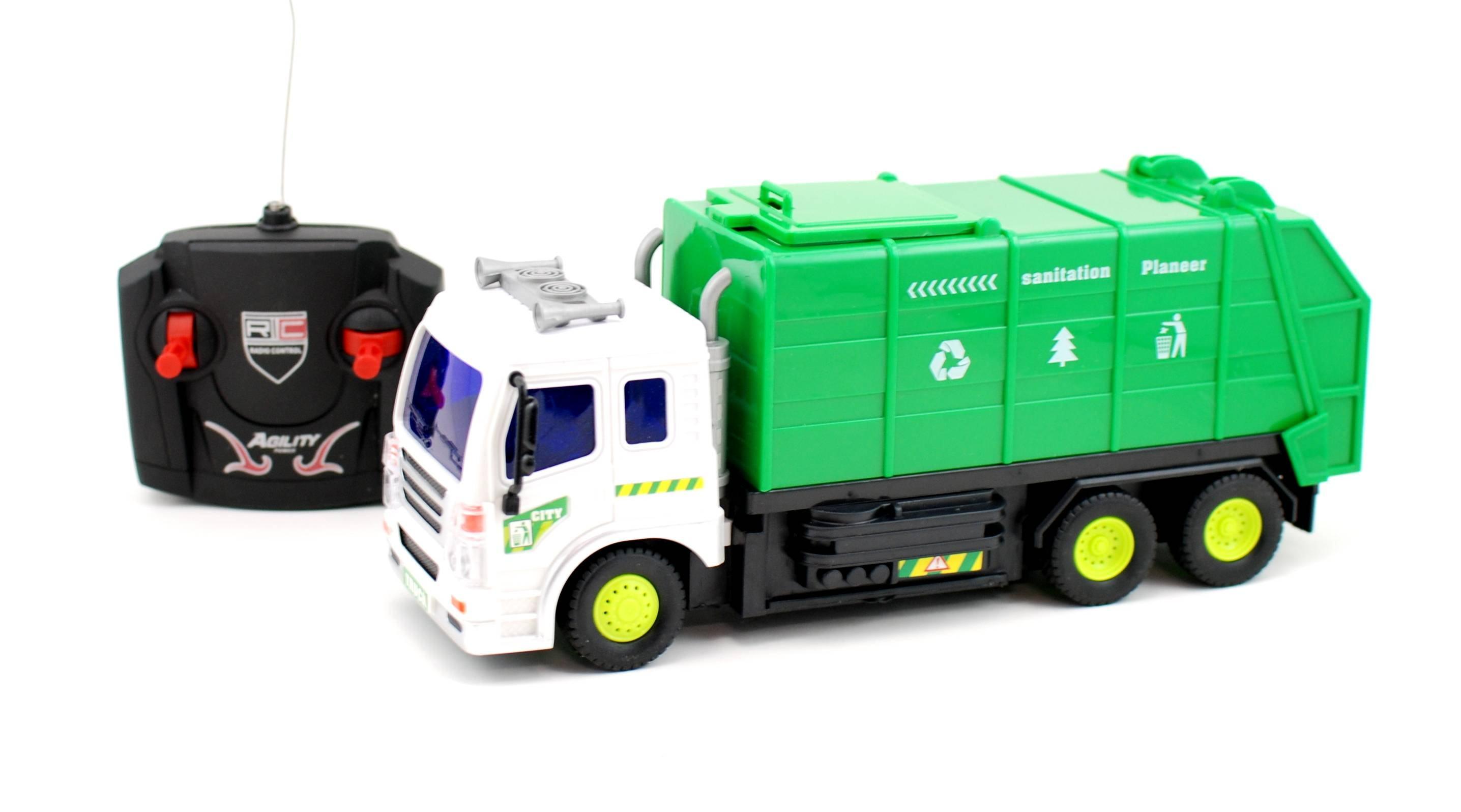 Masina de gunoi cu radio comanda - Masinuta de jucarie cu telecomanda