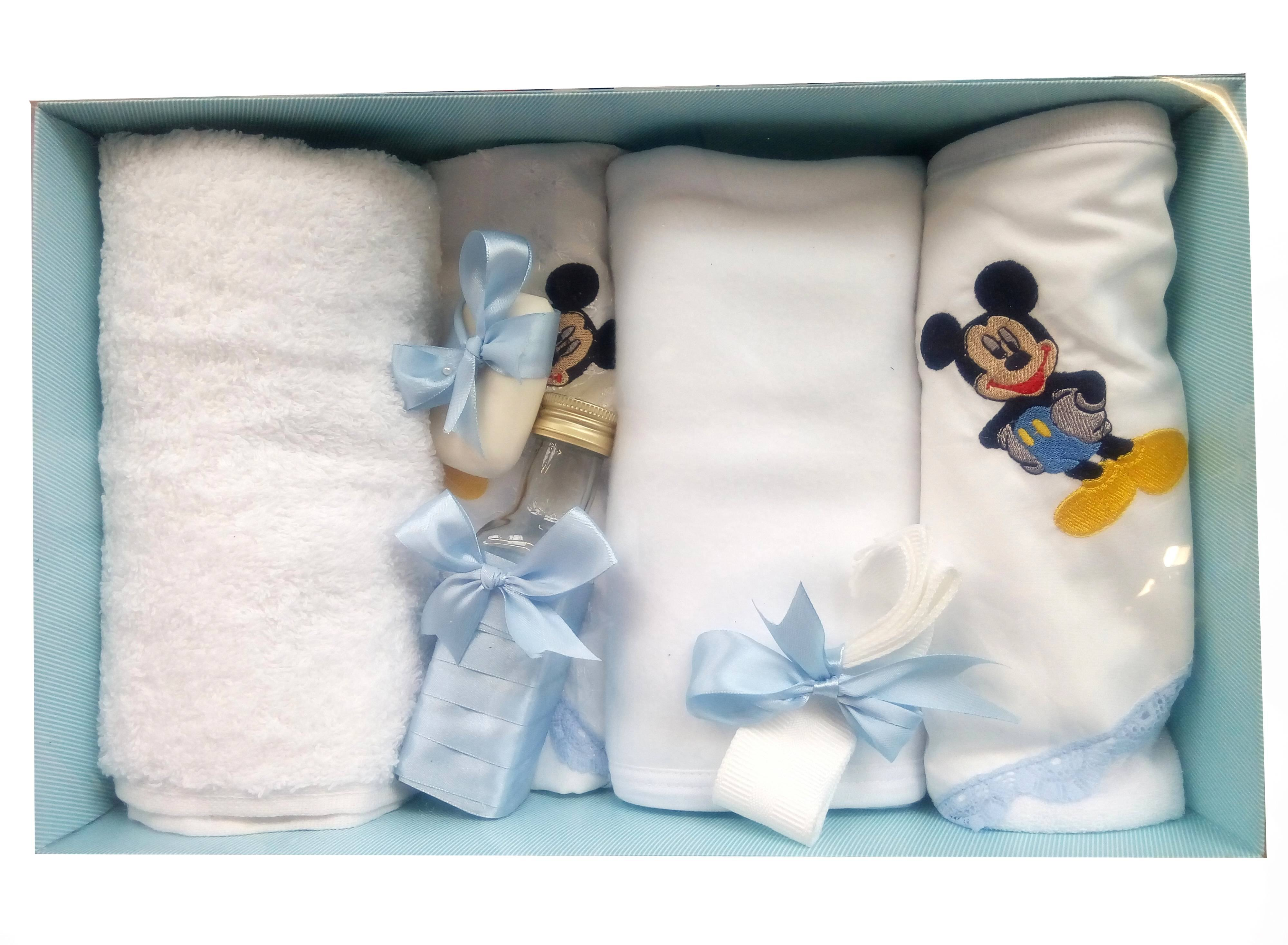 Trusou botez personalizat baieti cu Mikey Mouse - set complet biserica TB99154