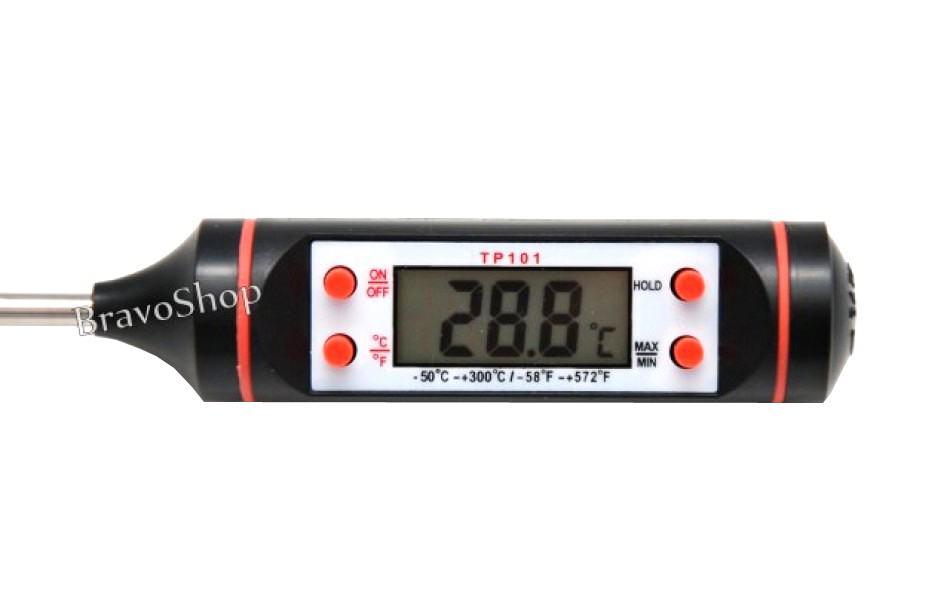 Termometru digital universal cu sonda si afisare LCD - Ideal pentru alimente, lichide, camera etc.
