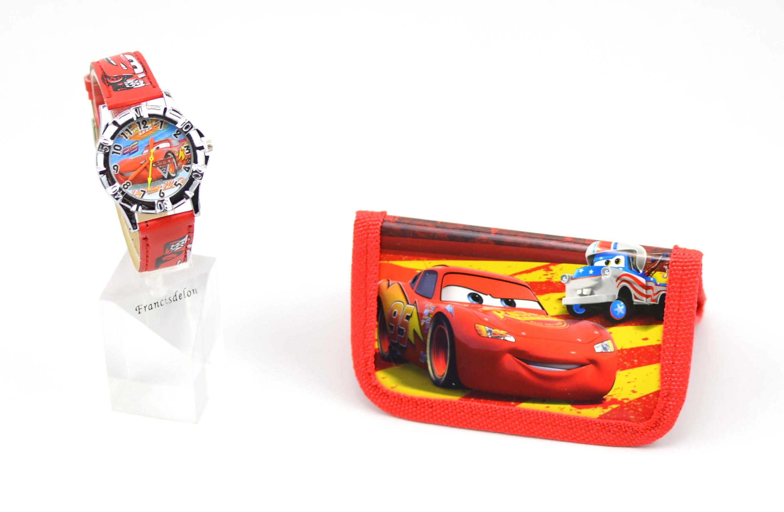 Set ceas pentru copii Cars si portofel cadou si portofel cadou - MK02R
