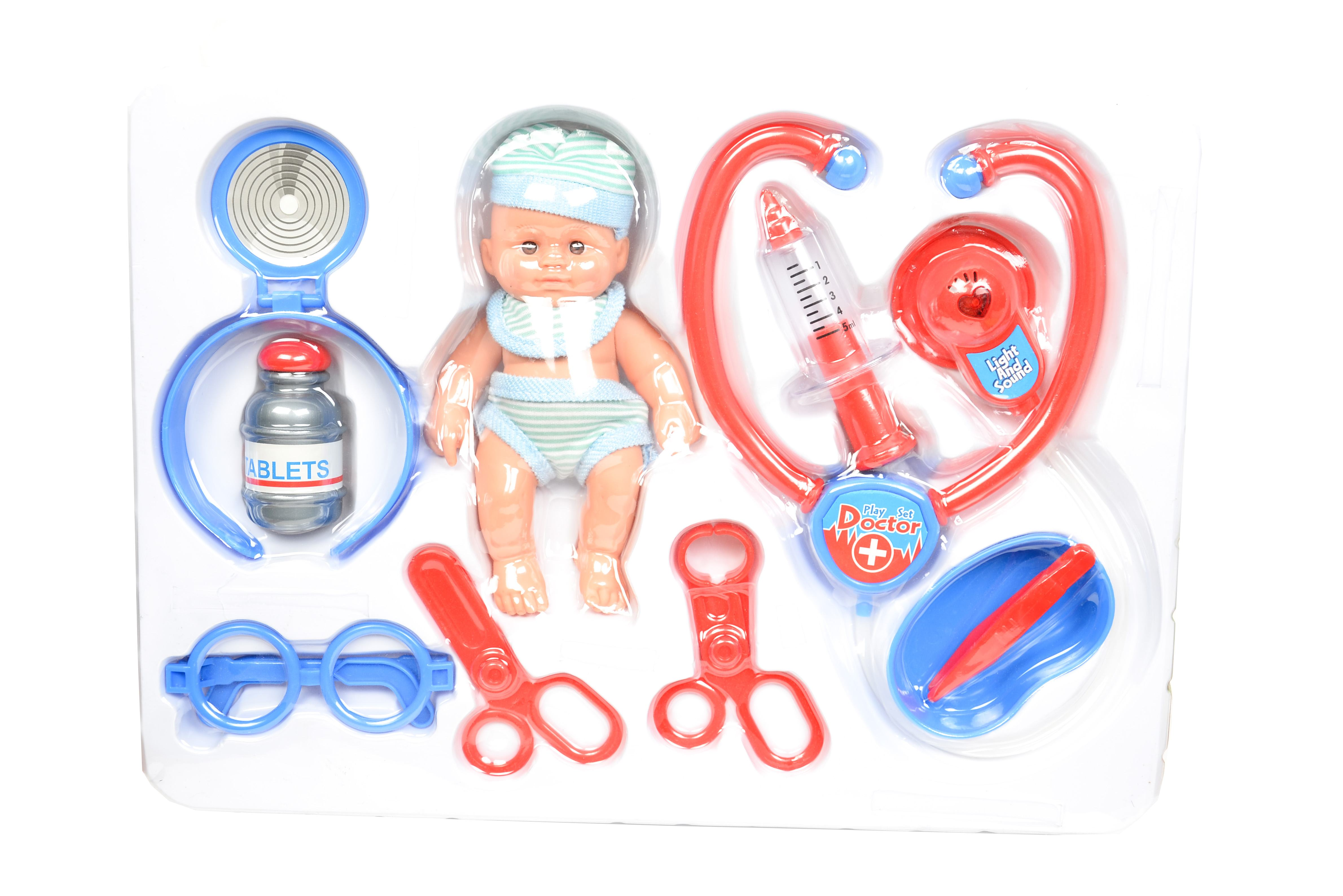 Set doctor de jucarie pentru copii, cu o multime de unelte si accesorii, sunete si lumini - ELE661212