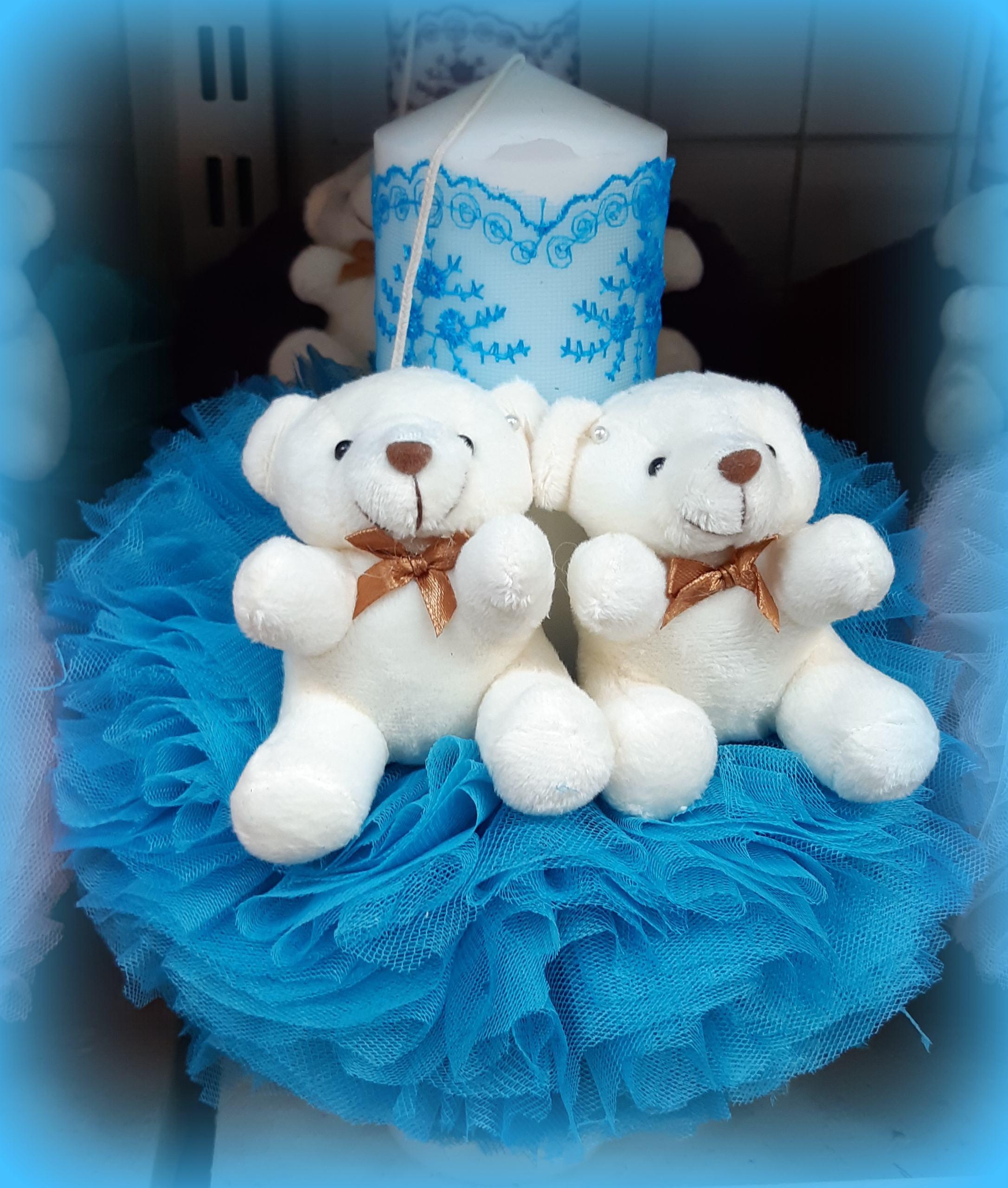 Lumanare de botez pentru fetite si baieti - TURCOAZ2451