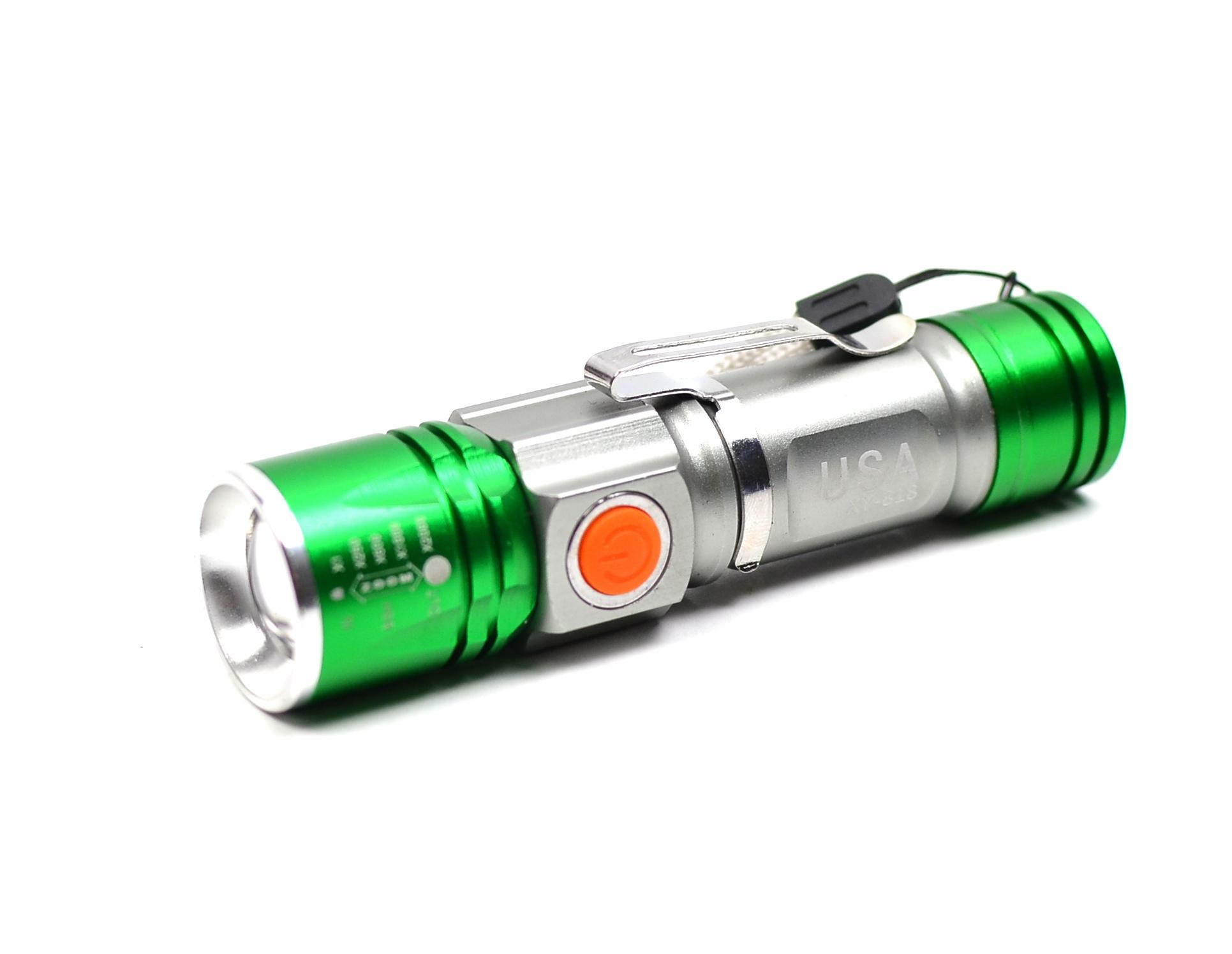 Lanterna reincarcbila USB Flashligt shockproof - DORMINIUSB