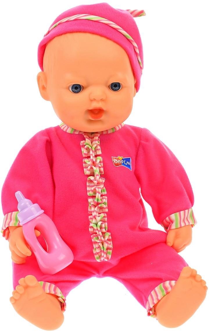 Bebelus de jucarie, Belinda, cu biberon, pentru copii, roz - 68013