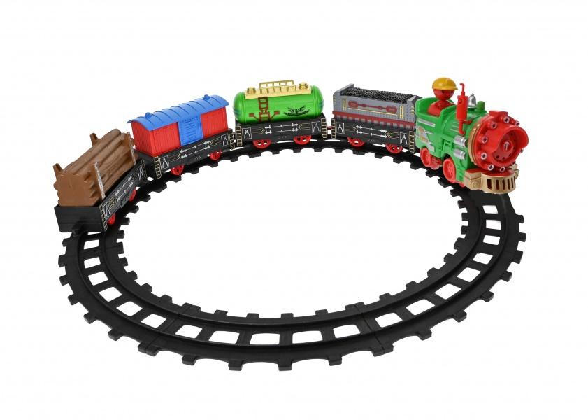 Set circuit tren de jucarie, cu vagoane, muzica si lumini - 866C1