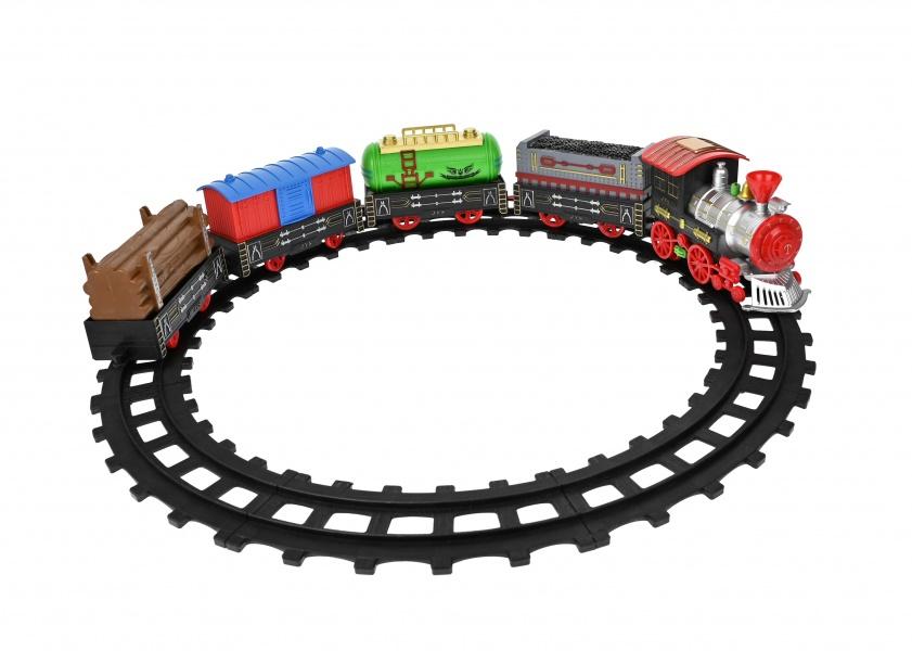 Set circuit tren de jucarie, cu vagoane, muzica si lumini - 866A1