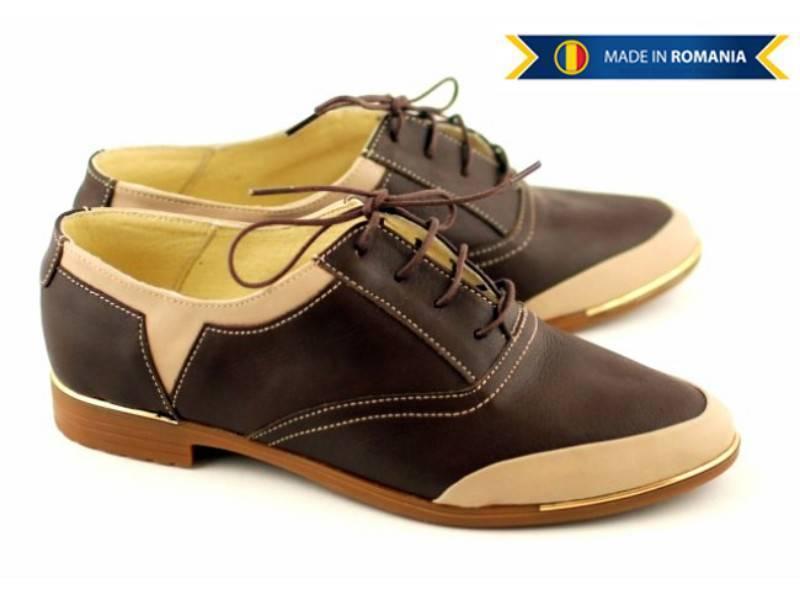 Pantofi dama casual din piele naturala, foarte comozi - Made in Romania