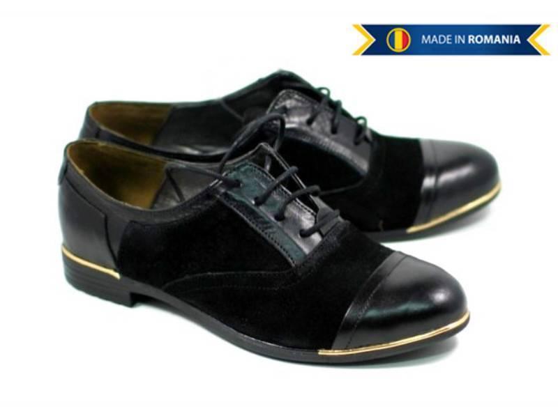 Pantofi dama piele naturala intoarsa, casual - FOARTE COMOZI - Made in Romania!