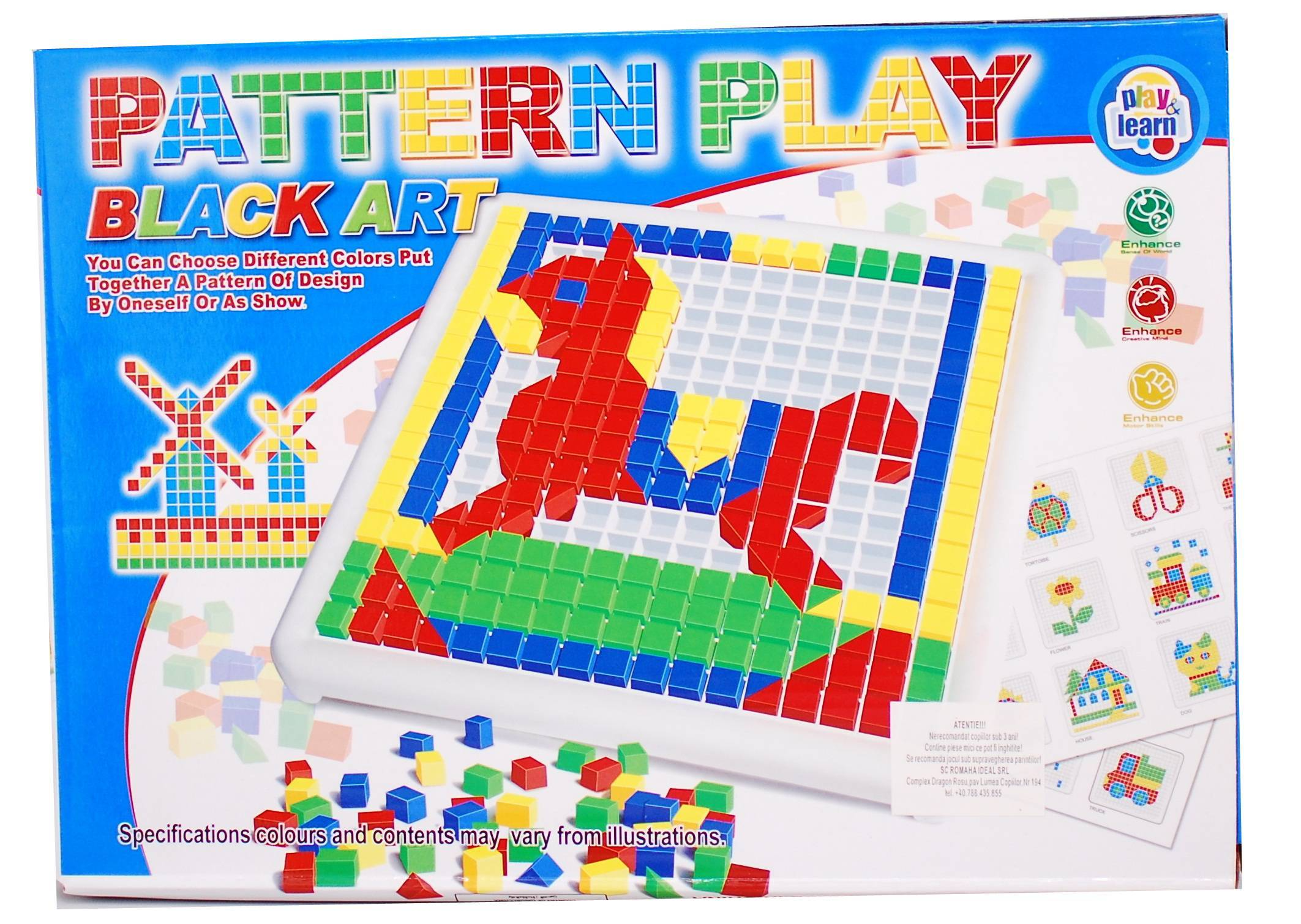 Joc tip mozaic cu caluti, 312 de piese - jucarie creativ educativa 326