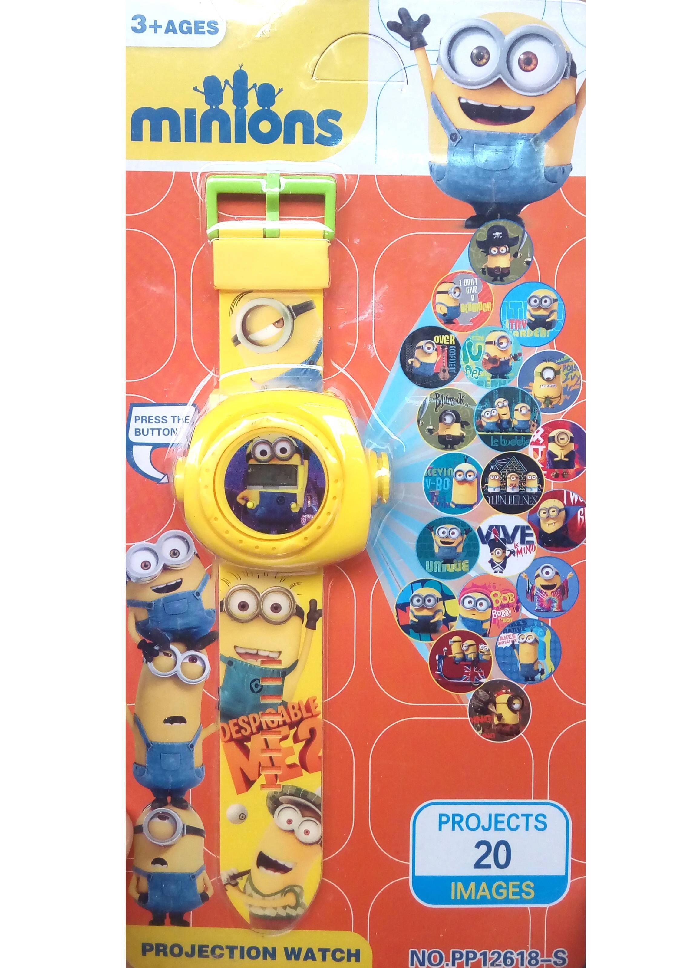 Ceas pentru copii cu proiectie de lumini si eroi din desenele animate MINION