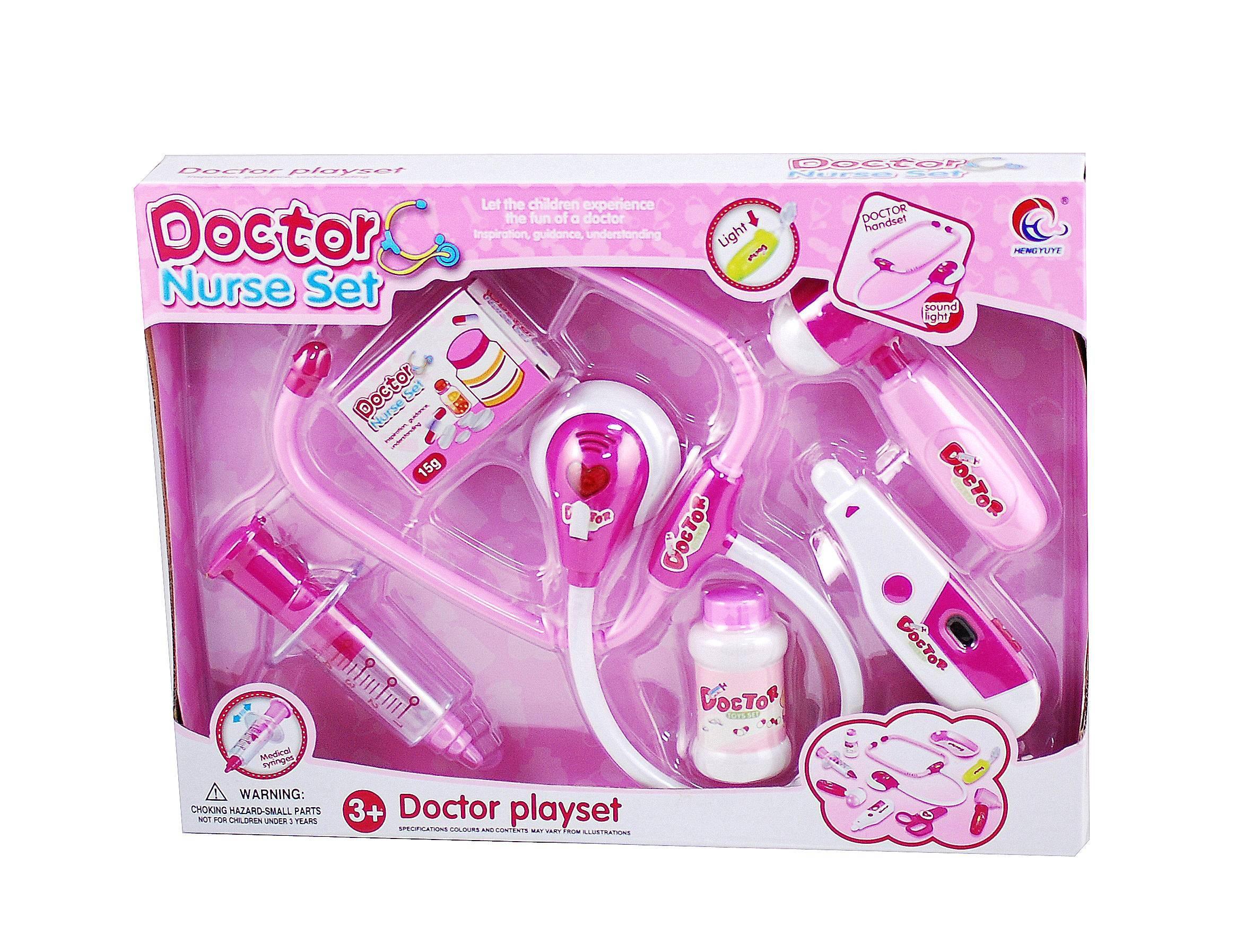 Set doctor pentru fetite - o jucarie educativ - amuzanta cu sunete si lumini