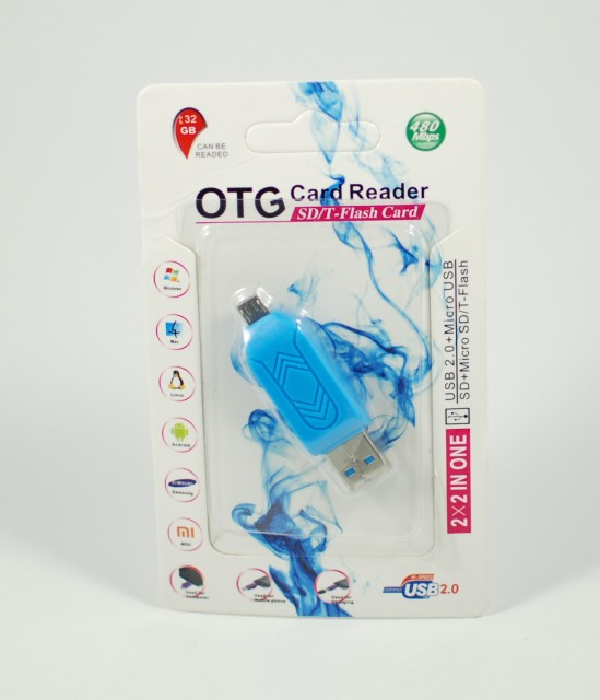 Cititor de carduri (2 in 1) micro USB OTG + USB tip SD/T Flash Card