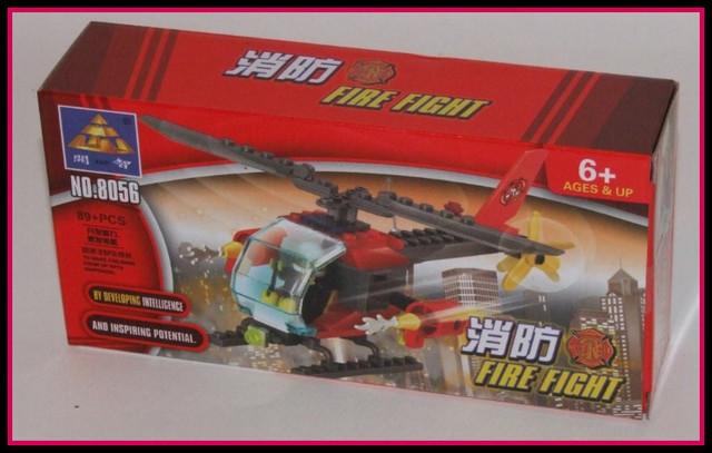 Jucarie constructiva Kazi - Elicopter de pompieri 89 piese