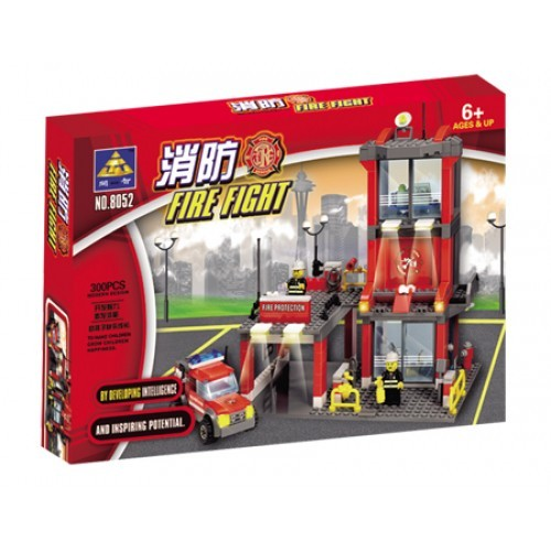 Jucarie constructiva statie de pompieri (300 piese)