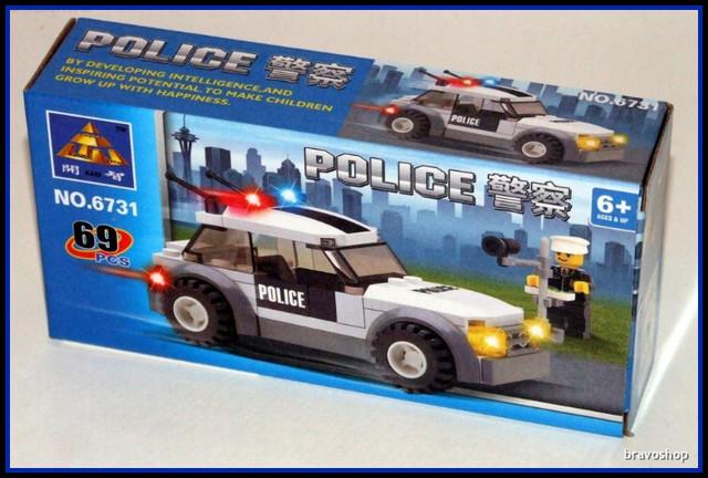 Jucarie tip lego - Masina de politie 69 piese
