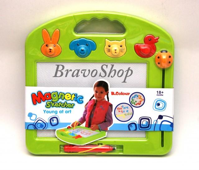 Tablita magnetica desen 4 culori - Tabla desen cu autostergere pentru copii